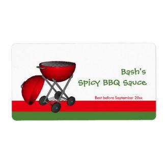 BBQ Sauce Jar Label