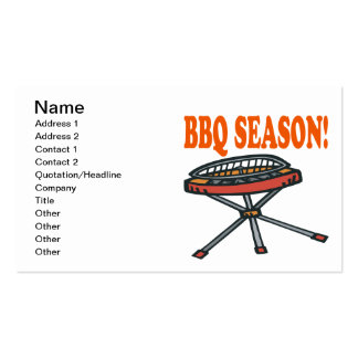 BBQ Season Pack Of Standard Business Cards
