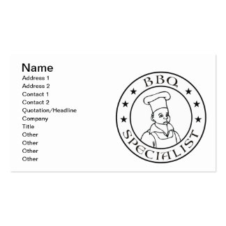 BBQ Specialist Pack Of Standard Business Cards