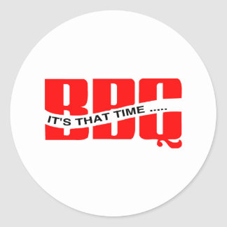 BBQ Time Classic Round Sticker