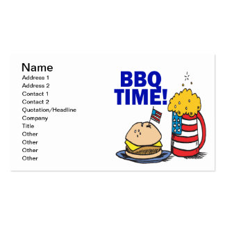 BBQ Time Pack Of Standard Business Cards