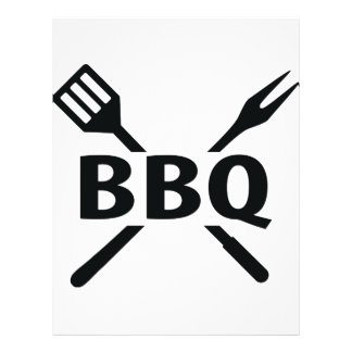 BBQ with cutlery icon 21.5 Cm X 28 Cm Flyer
