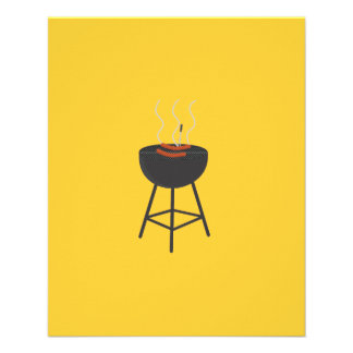 BBQ with sausages 11.5 Cm X 14 Cm Flyer