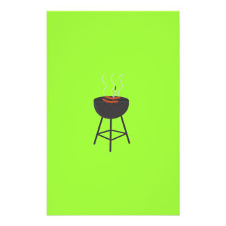 BBQ with sausages 14 Cm X 21.5 Cm Flyer