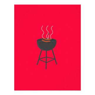 BBQ with sausages 21.5 Cm X 28 Cm Flyer