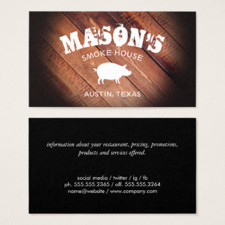 BBQ / Wood Business Card