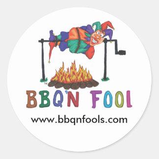 BBQNFOOL, www.bbqnfools.com Classic Round Sticker