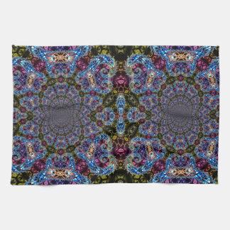 BBQSHOES: Fractal Vortex Digital Art 1020HTC Tea Towel