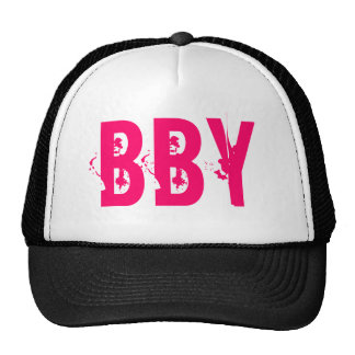 BBY Black and Pink Trucker Mesh Hats