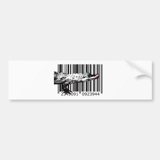 bc08 Bar Code Art Design Vector Fun Color Bumper Sticker