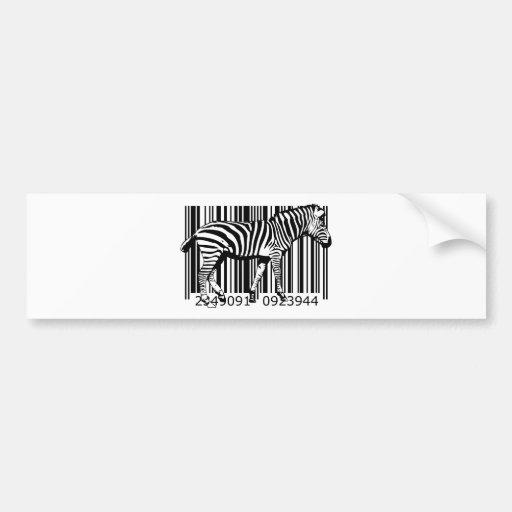 bc19 Bar Code Art Design Vector Fun Color X Bumper Stickers