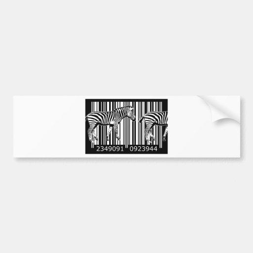 bc20 Bar Code Art Design Vector Fun Color Bumper Sticker