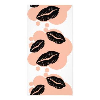 BC3K BLACK CORAL KISSES LIPS FASHION MAKEUP LIPSTI CUSTOMIZED PHOTO CARD