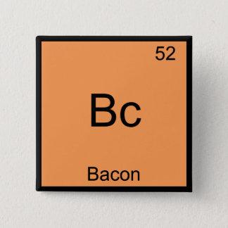 Bc - Bacon Funny Element Chemistry Meme T-Shirt 15 Cm Square Badge