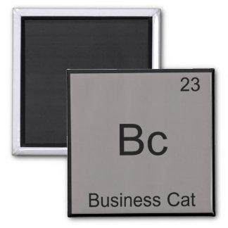 Bc - Business Cat Funny Chemistry Element Symbol Square Magnet
