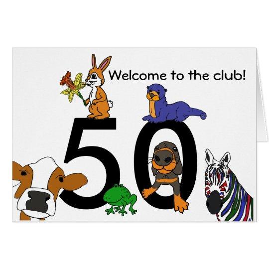 BC- Cute 50th Birthday Card