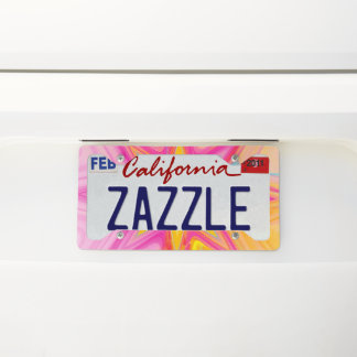 BC Fractal Star License Plate Frame