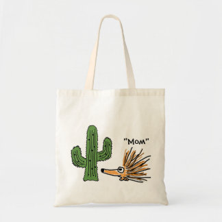 BC- Funny  Porcupine and Cactus Bag