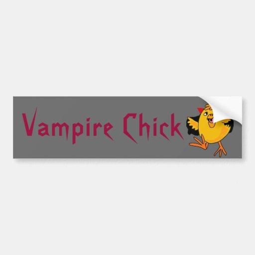 BC- Funny Vampire Chick Bumper Sticker