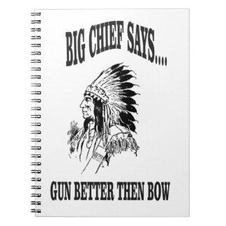 BC gun better then bow Spiral Notebook