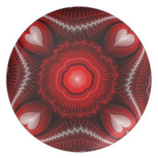 BC Hearts Full Of Love Melamine Plate