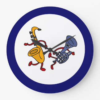 BC- Saxophone and Trumpet Dancing Wall Clock