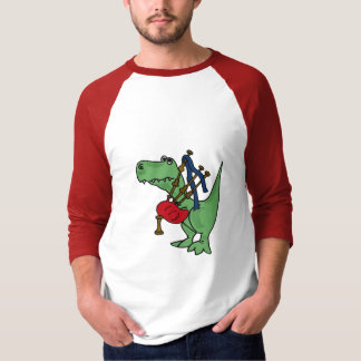 BC- T-rex Playing the Bagpipes T-shirt