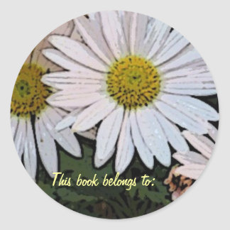 BC- This book belongs to: daisy design Classic Round Sticker