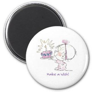 BD-002 Birthday Wish 6 Cm Round Magnet