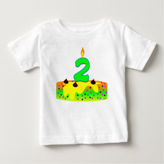 BD Cake Candle 2 Baby T-Shirt