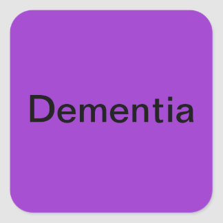 BD Dementia Square Sticker