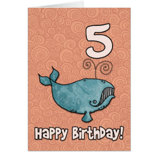 bd whale - 05 greeting card