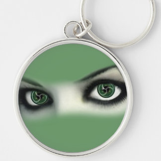 BDSM EYES Silver-Colored ROUND KEY RING