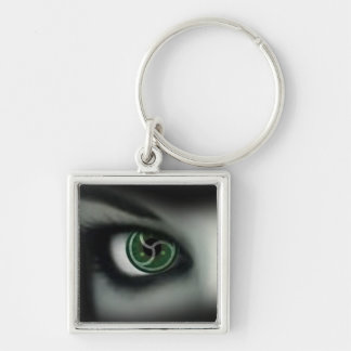 BDSM EYES Silver-Colored SQUARE KEY RING