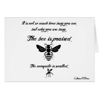 Be a busy bee! note card