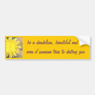 Be a Dandelion Bumper Sticker