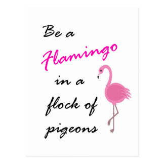 Be a Flamingo in a flock of pigeons Postcard