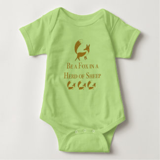 Be a Fox in a Herd of Sheep Baby Bodysuit