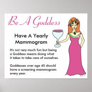Be A Goddess, Have A Mammogram Wine Goddess BCA Print