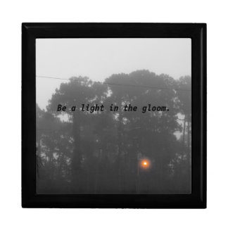 """Be a light in the gloom"" Large Square Gift Box"