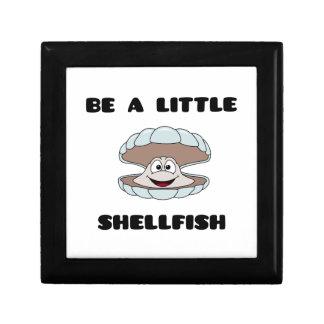 Be a little shellfish scallop small square gift box