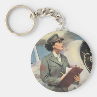 Be a Marine - Free a Marine to Fight Basic Round Button Key Ring