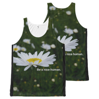 Be a Nice Human All-Over Printed Unisex Tank All-Over Print Tank Top