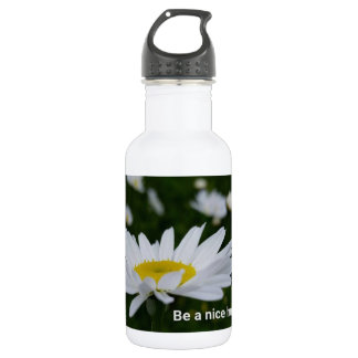 Be a Nice Human Custom Water Bottle (18 oz), White