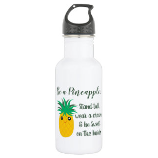 Be A Pineapple Inspirational Motivational Quote 532 Ml Water Bottle