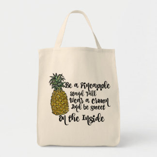 Be a Pineapple shopping tote bag