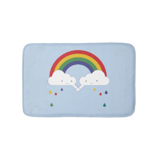 Be a Rainbow Bath Mat