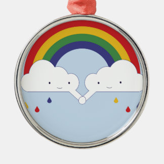Be a rainbow Silver-Colored round decoration