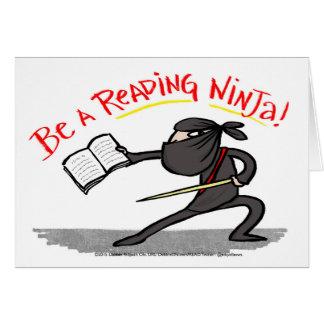 Be A Reading Ninja! card