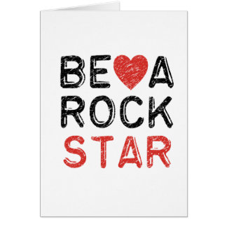 Be a rock star card